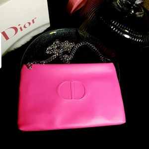 Dior Cosmetic pouch to shoulder bag